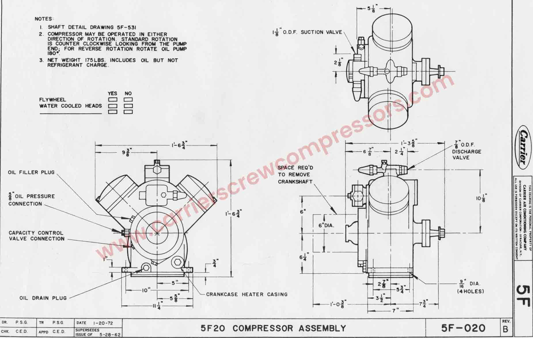 Carrier Carlyle 05F Compressor