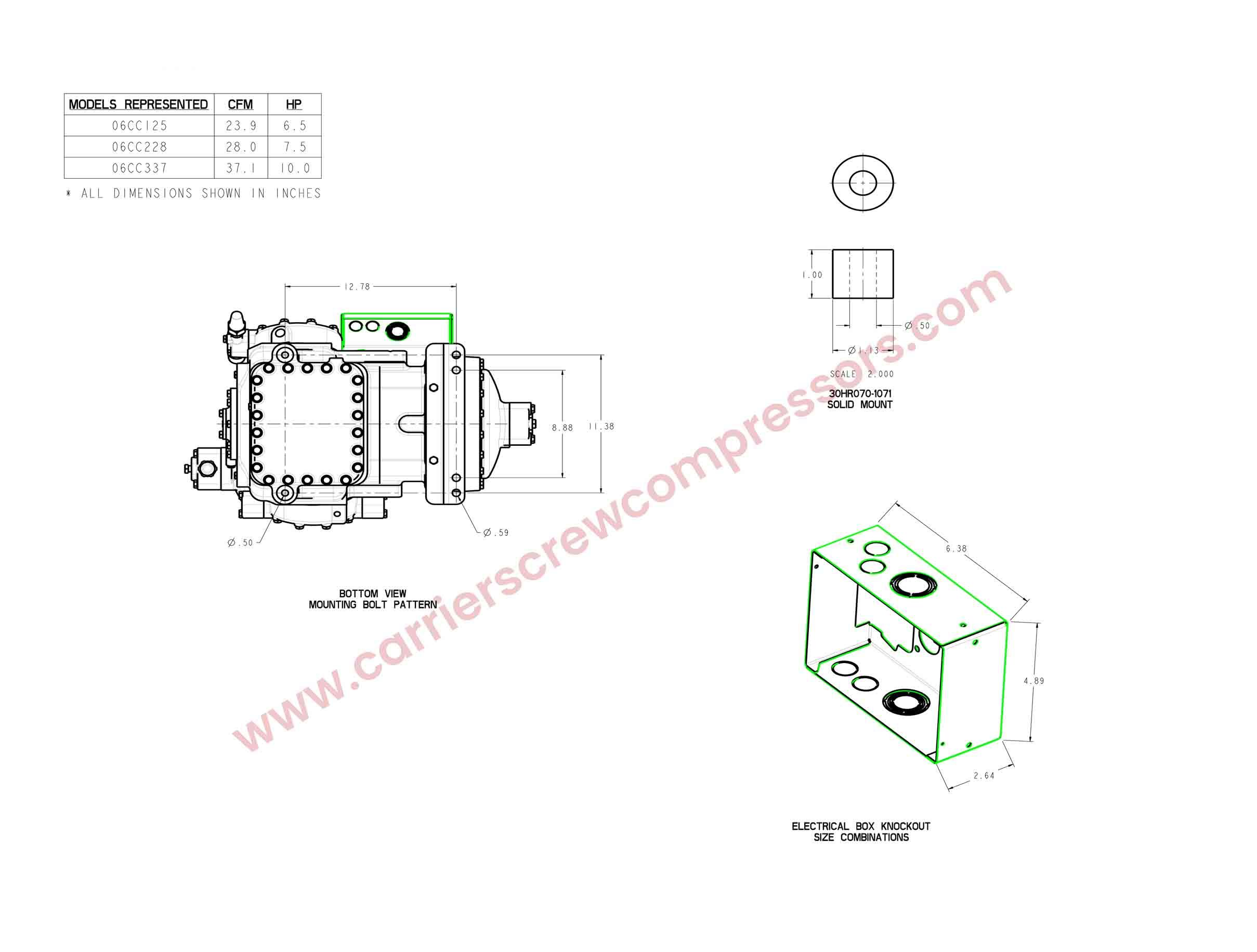 06CC125, 06CC228, 06CC337 Electronic Drawings