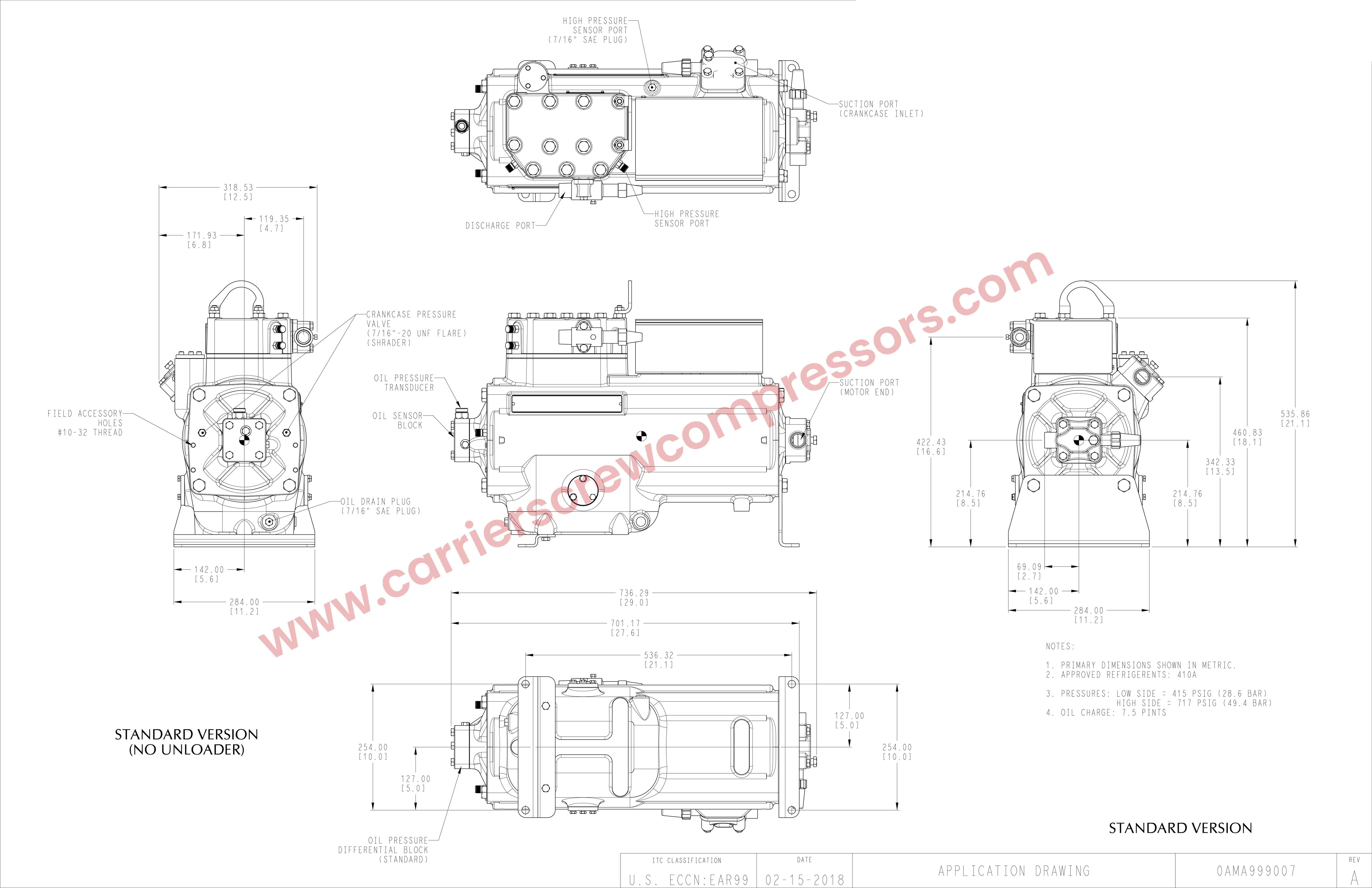 Carrier 06M Application Drawing