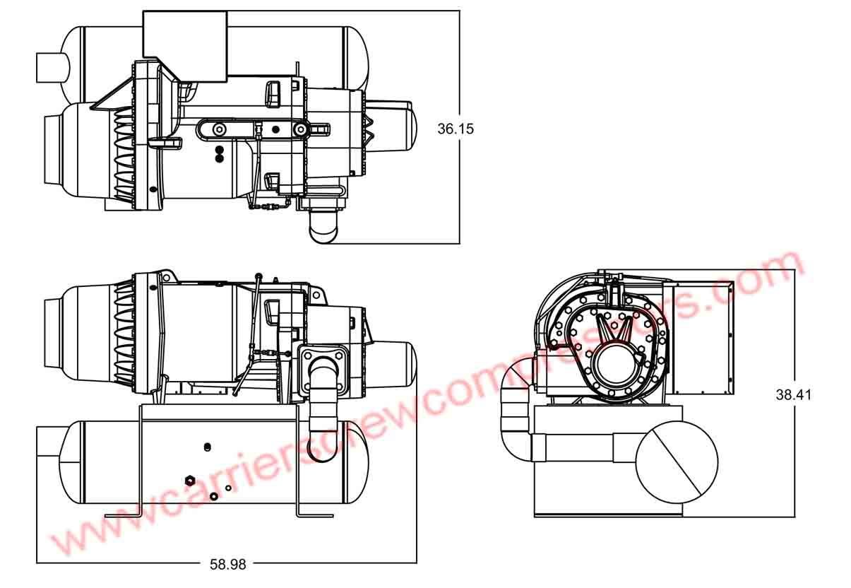 Carrier 06TUA483 assembly drawing